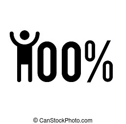 100% Success Illustration
