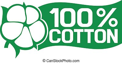 100, %, symbol, bawełna
