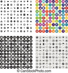 100 symbol icons set vector variant