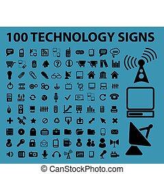 100, technologie, signes