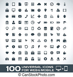 Universal Icons For Web and Mobile - 100 Universal Icons For...