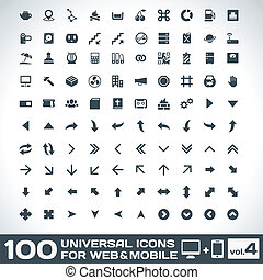 100 Universal Icons For Web and Mobile volume 4