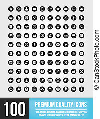 100 Universal Vector Icons for Mobi