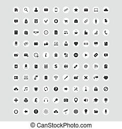 100 Universal Vector Icons Set