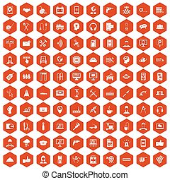100, unterstuetzung, heiligenbilder, sechseck, orange