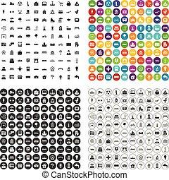100 urban icons set vector variant - 100 urban icons set...