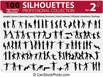 100 Vector Silhouettes Professional Collection Vol. 2