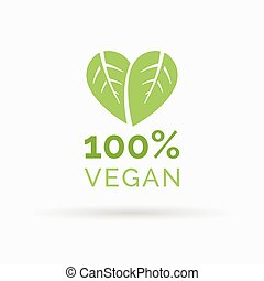 100% vegan food icon design vector symbol