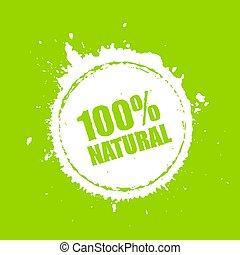 100, vetorial, natural, ícone