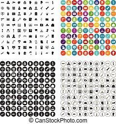 100 violation icons set vector variant - 100 violation icons...