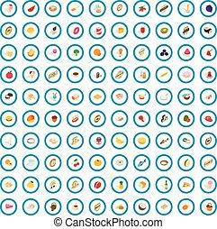 100 vitamine icons set, isometric 3d style - 100 vitamine ...