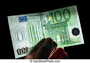 100, watermark, euro