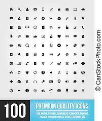 100, web, icons