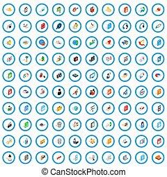 100 webdesign icons set, isometric 3d style