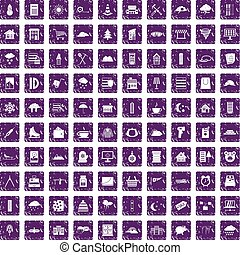 100 windows icons set grunge purple