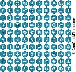 100 wireless technology icons sapphirine violet