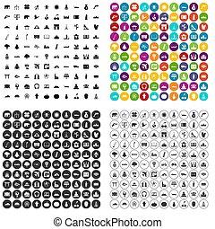 100 world icons set variant
