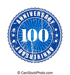100  Years anniversary stamp.