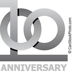100 years anniversary symbol