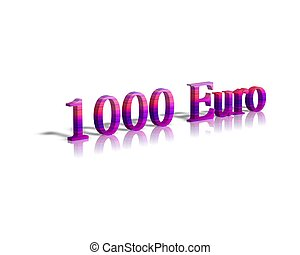 1000 euro 3d word