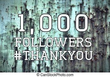 1000 followers banner