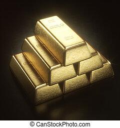 1000, grama, barra ouro