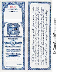 $1000, mil, dólar, ferrocarril, bono, blanco, 1900