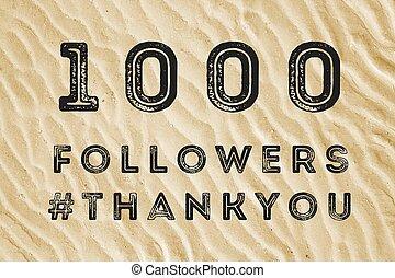 1000 online followers