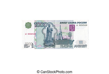 1000 rubles on a white background
