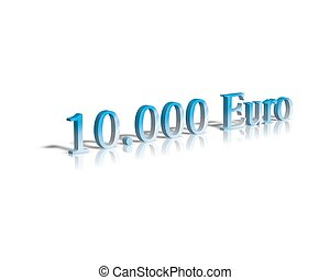 10.000 euro 3d word