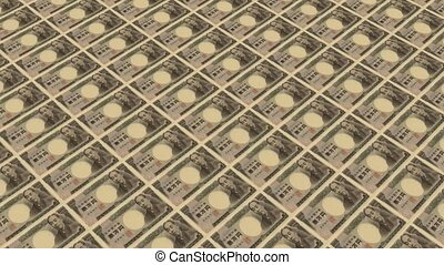 10000 japanese yen,Printing Money Animation.