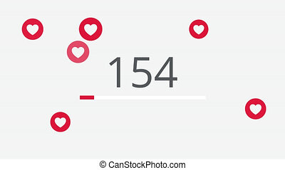 10000 likes counting 4K social media animation. - 10000...