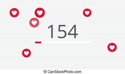 10000, media, animation., houden van, sociaal, telling, 4k