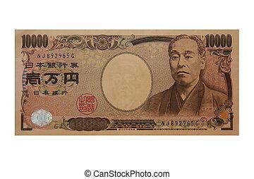 Photo of 10000 japanese yen bill.