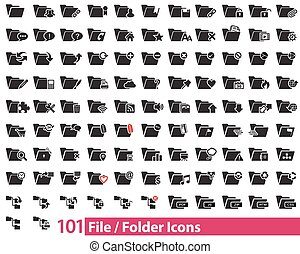 101 File and Folder vector icons