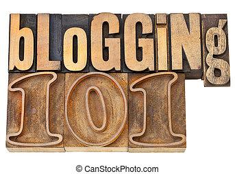 101, type, bois, blogging
