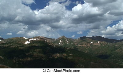 (1015), lato, góra, timelapse, skala, burza