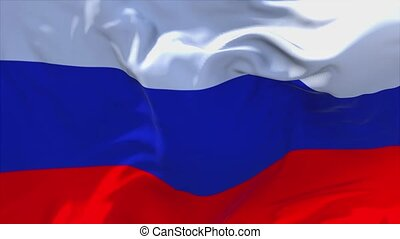 102. Russia Flag Waving in Wind Continuous Seamless Loop Background.