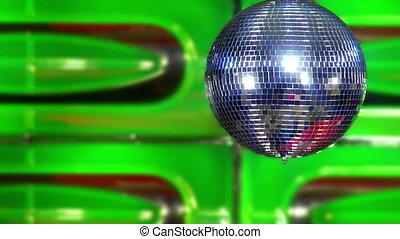 disco mirror ball green fast