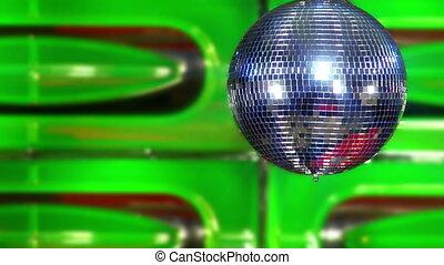 disco mirror ball green slowly