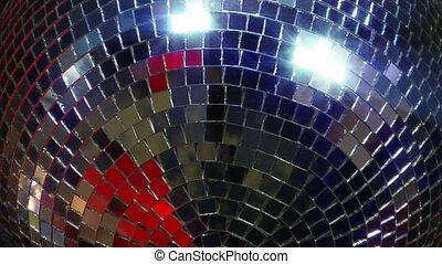 disco mirror ball super close