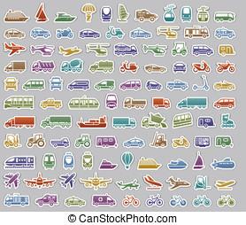 104, przewóz, ikony, komplet, retro, majchry