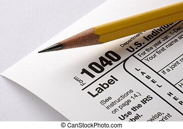 1040의 세금 신고서