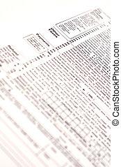 1040 forma imposto, (usa)
