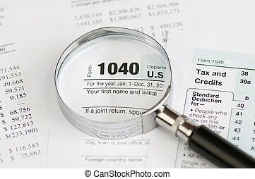 1040 income tax form - Tax form 1040 for US individual tax...