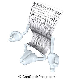 1040 Tax Man  - A 3D concept and presentation figure