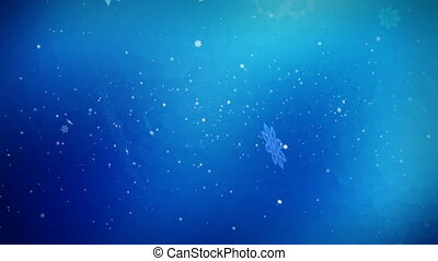Nice looping wintry holiday background of falling snowflakes. Good for themes of Winter Backgrounds, Holiday Festivities, Seasonal Activities.