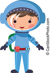 1060-Cartoon astronaut - Cartoon astronaut EPS10. Contains...
