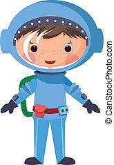 1060-cartoon, astronauta
