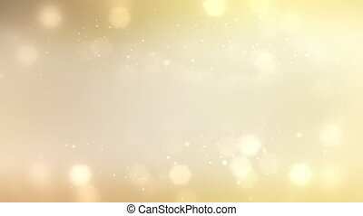 A seamless gold background loop featuring falling stars with space for text.